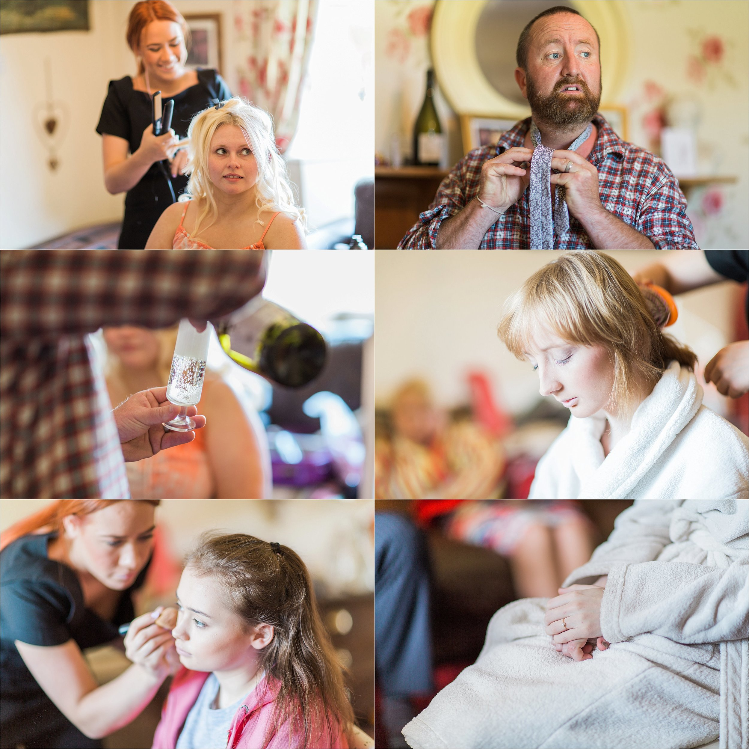 Possibly the most relaxed bridal party EVER. The bridal preparations went beautifully.