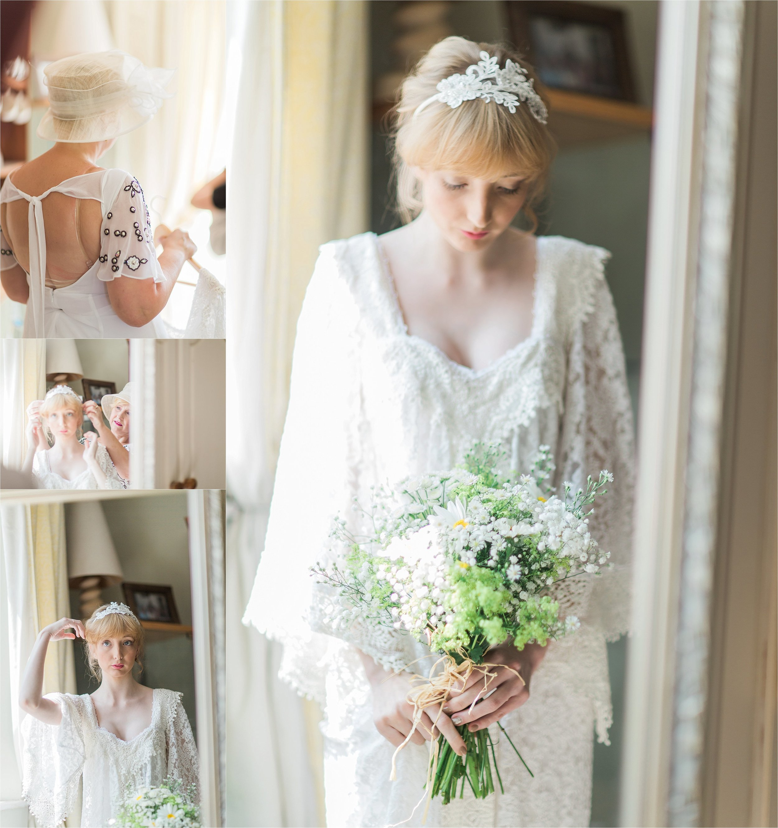 The mother of the bride looked absolutely stunning in a white chiffon maxi dress, and Annabelle'sfinished look was absolutely flawless.