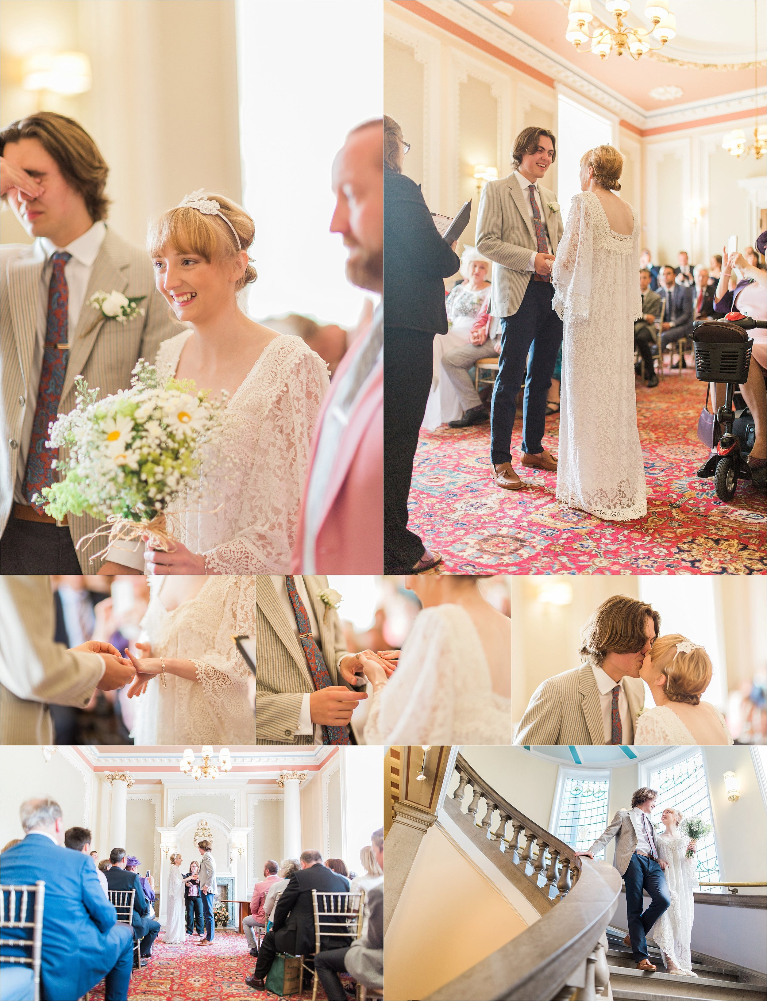 The ceremony was incredibly romantic, going off without a hitch, the guests were full of love and happiness.