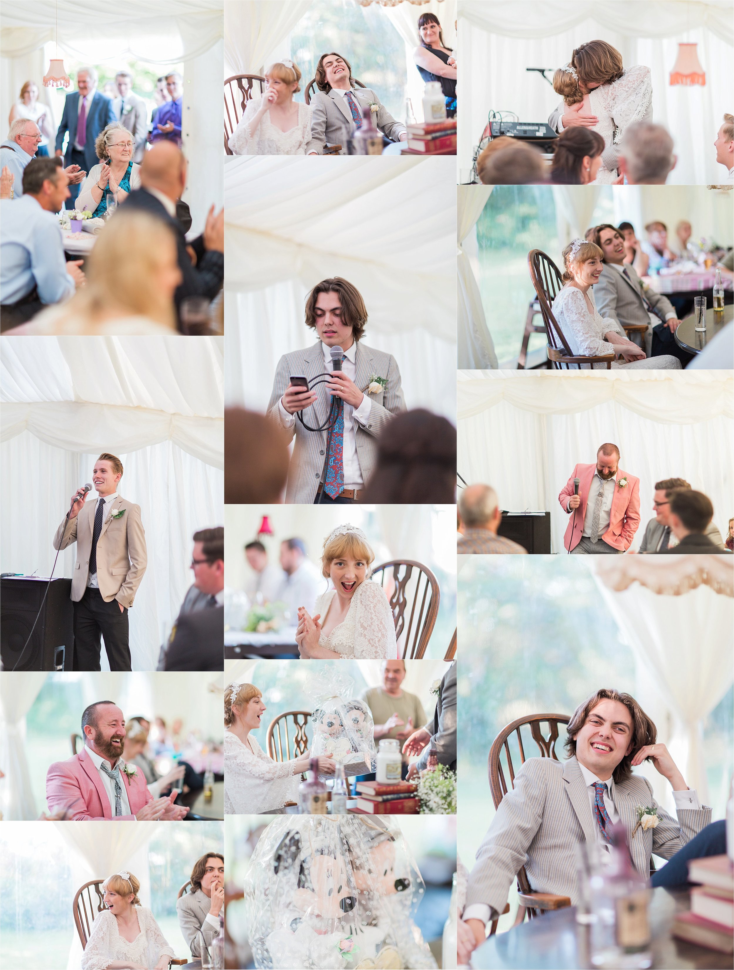 The speeches involved a father's fight for his daughter, an insightful video of the groom, and the cutest gift ever from the Groom to his beautiful new bride.