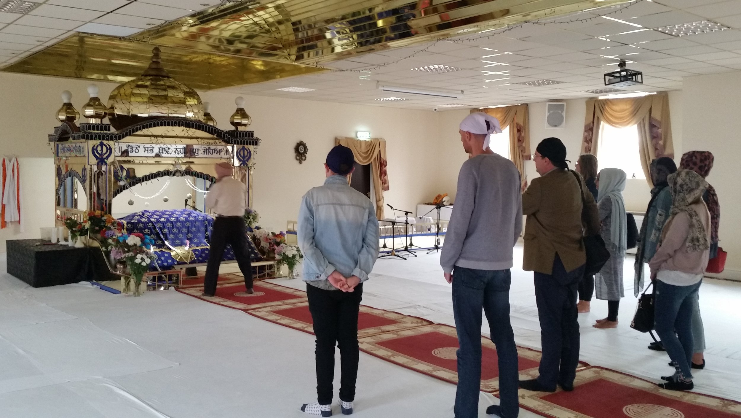 Visiting the Sikh Gurdwara