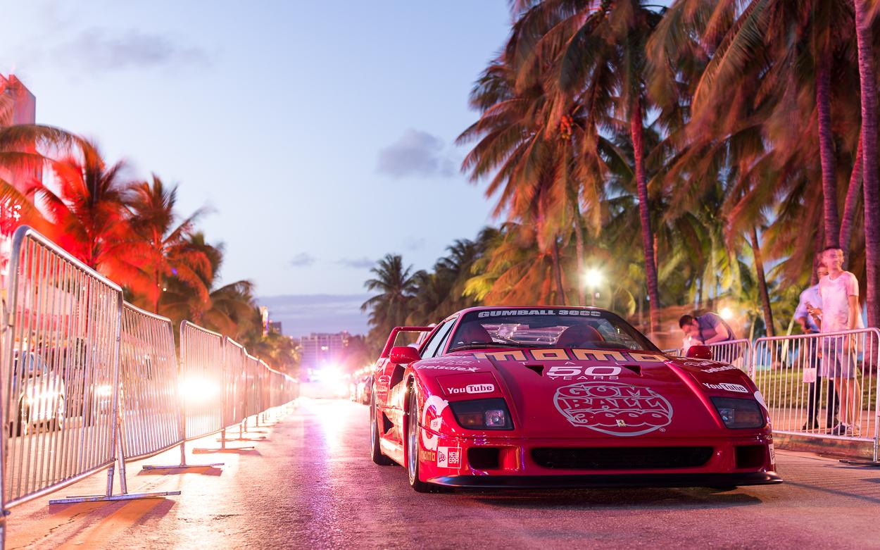 Ferrari F40 Miami Gumball 3000