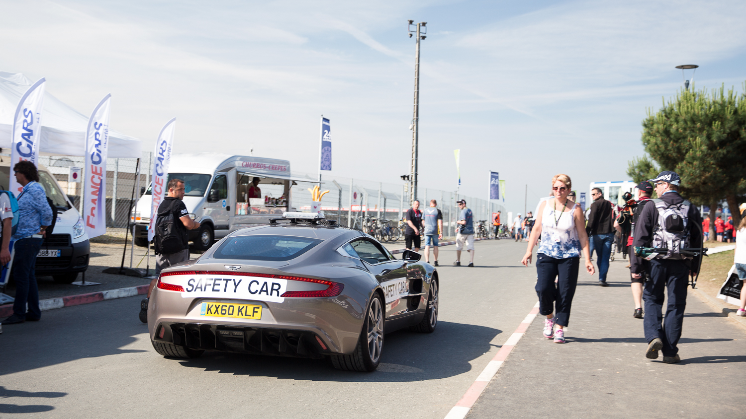 Only at Le Mans would you get an Aston Martin One-77 as a safety car...