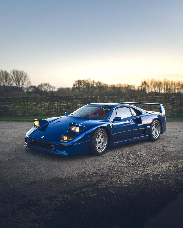 Blue Ferrari F40