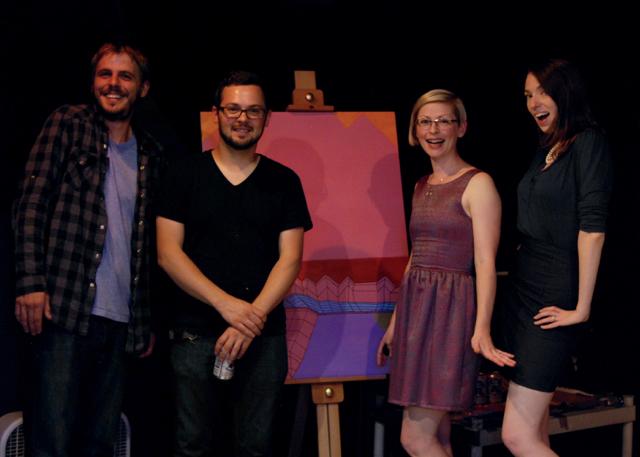 (l to r: Adam Gibson, Brandt Dykstra, me, Margaret Bashaar)