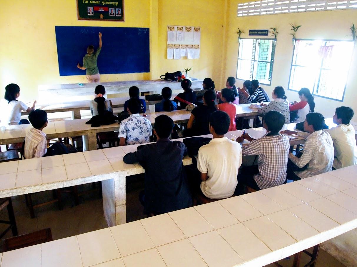 Secondary School English Club in Tramkok Village