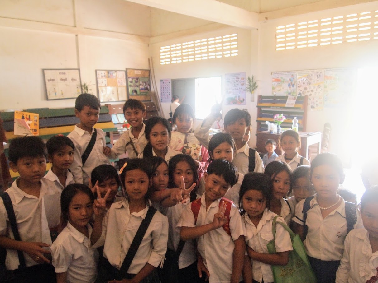 Primary school English club in Tramkok Village