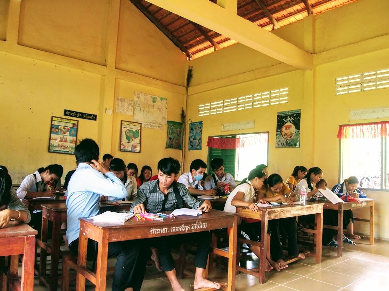 Art/English club at the Secondary School in Tramkok Village