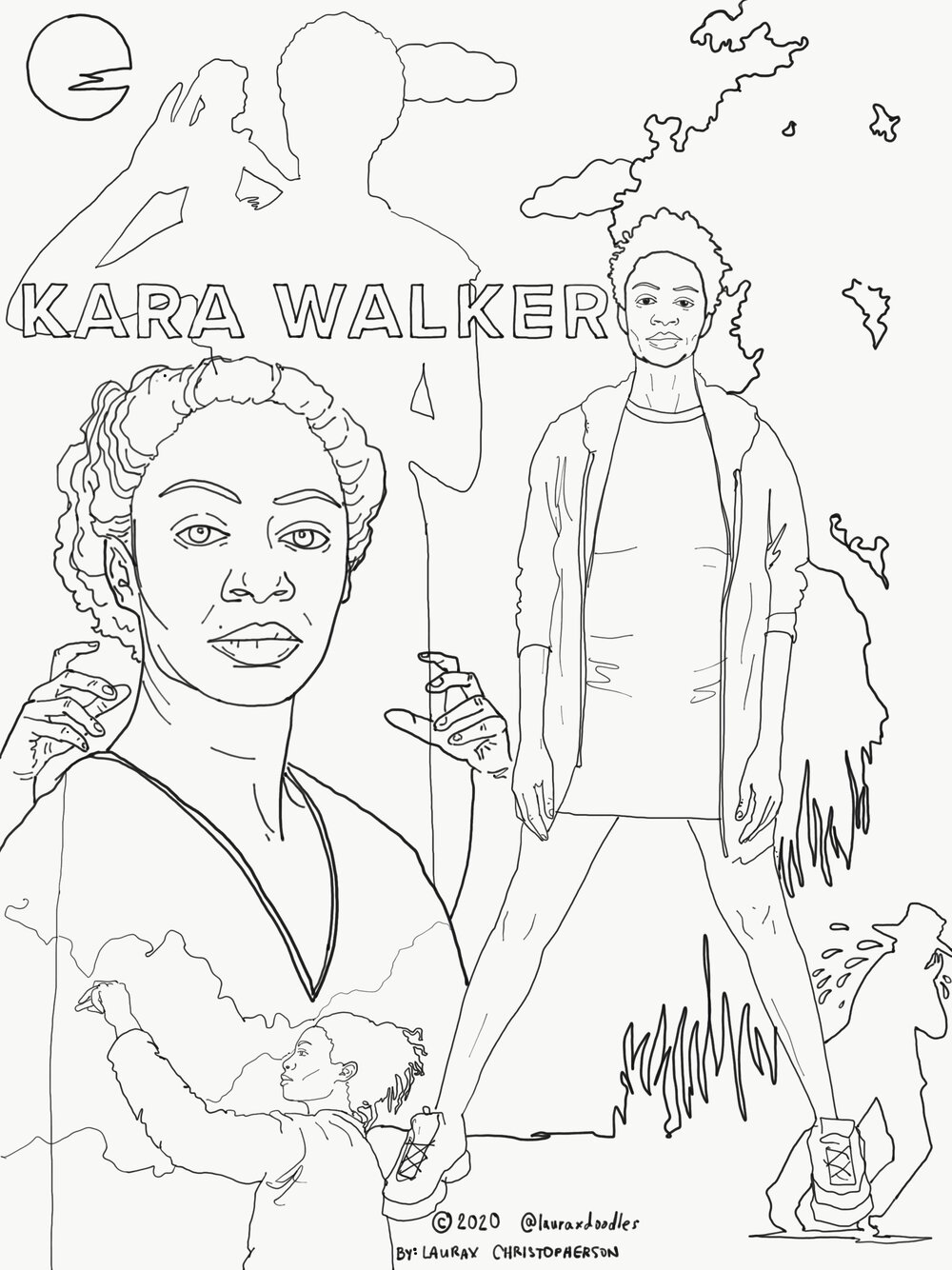 Artist Coloring Pages Laurax Marie Olson