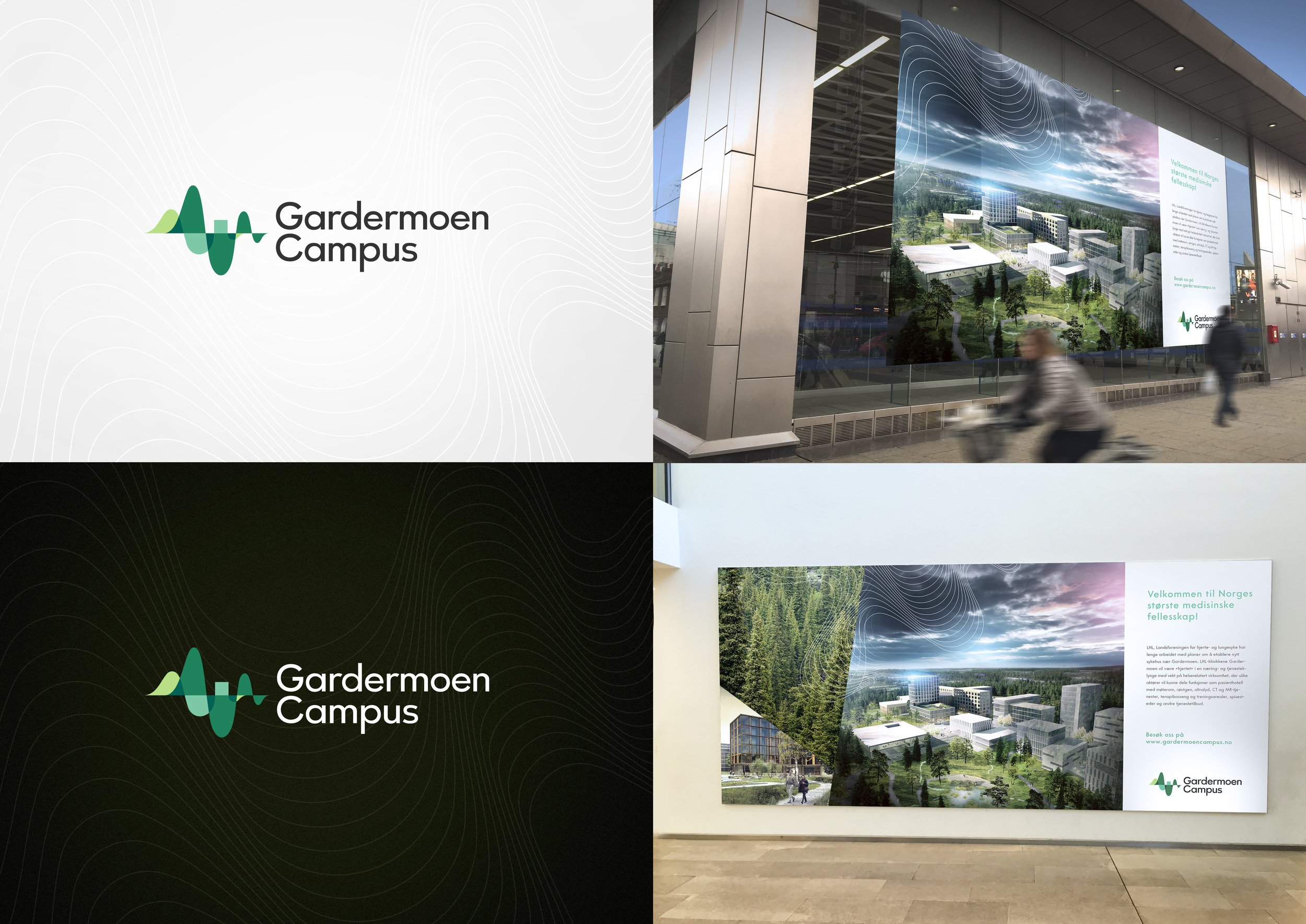 Logo og identitet for Gardermoen Campus