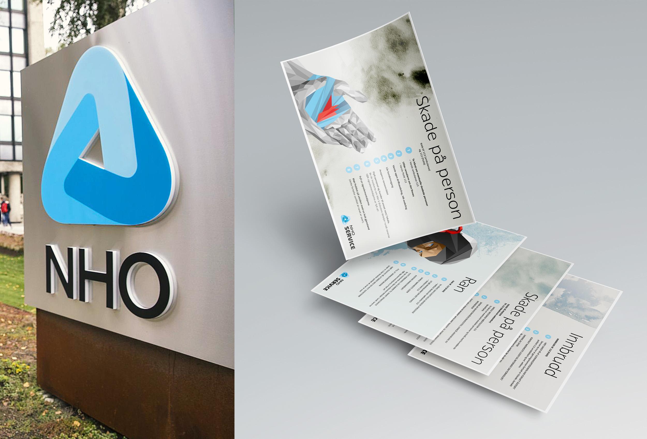 Illustrasjon og plakater for NHO
