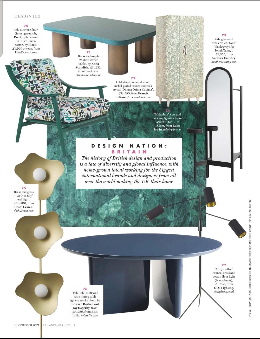 Malibu Coffee Table - DAVIDSON LONDON designed by ANNA STANDISH