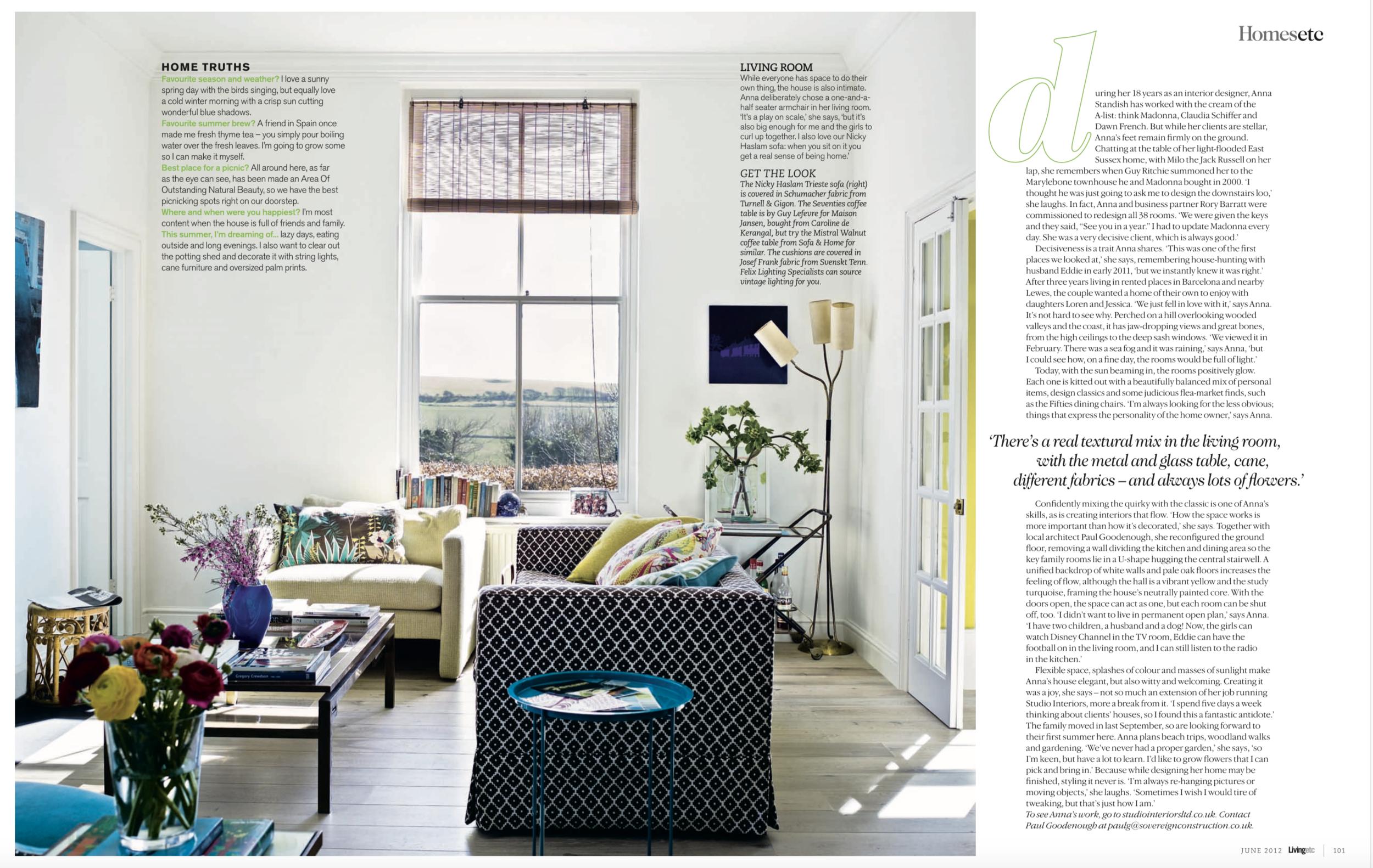 Living Etc Magazine June issue