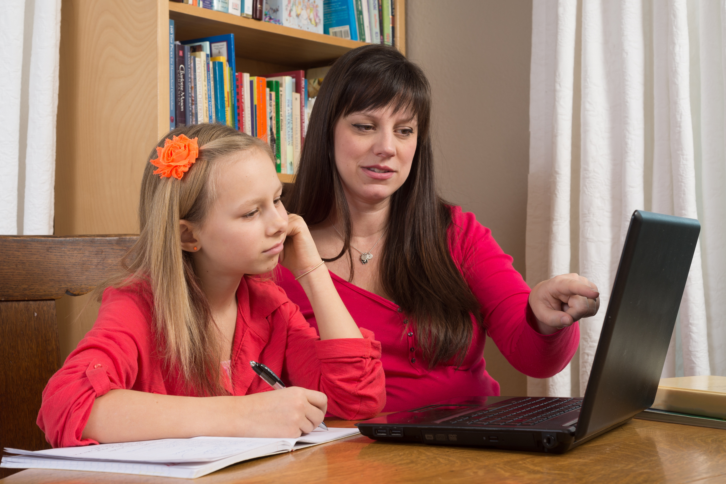 Online video lessons allow an absent student to learn from home.