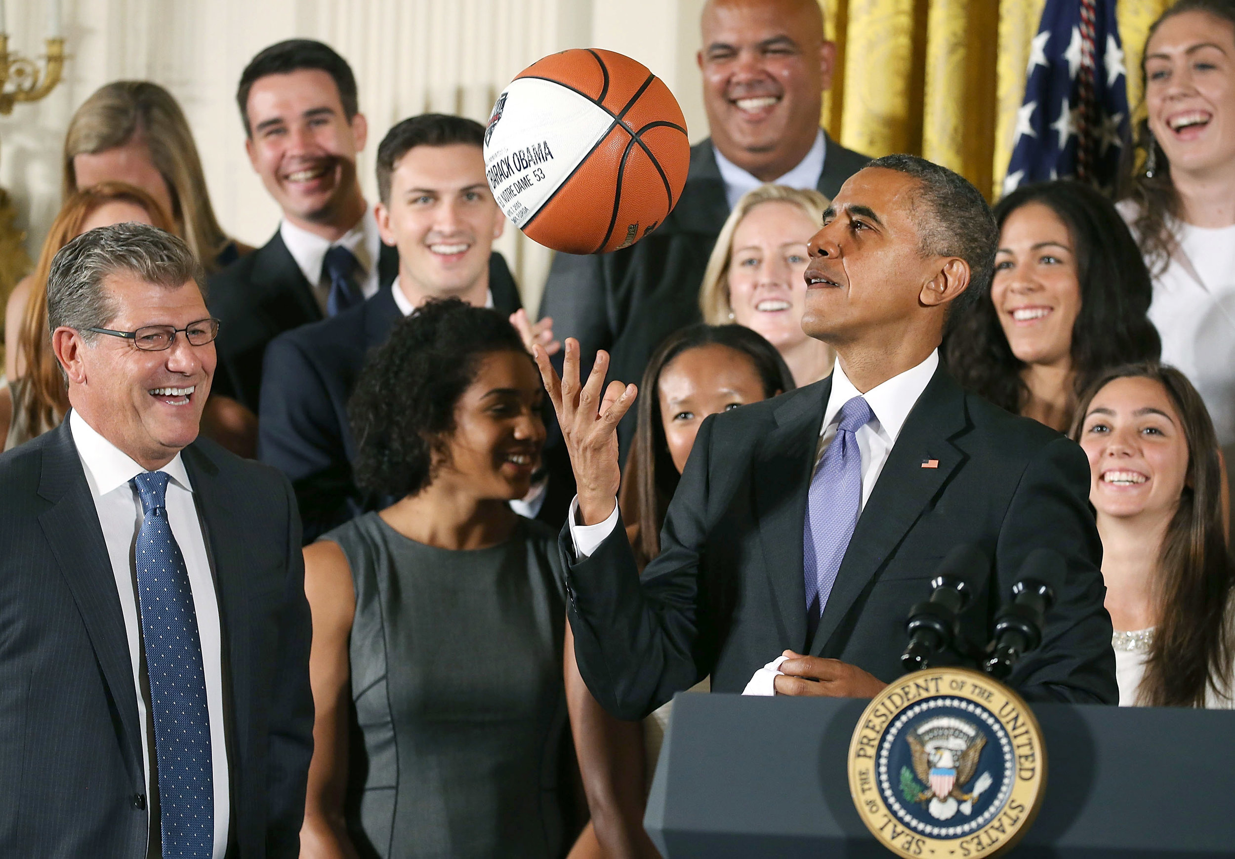 Barack Obama fills out a bracket every year.