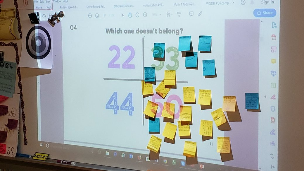 Using post-it notes is a great strategy for assessing student thinking, especially when using WODB as an exit ticket.