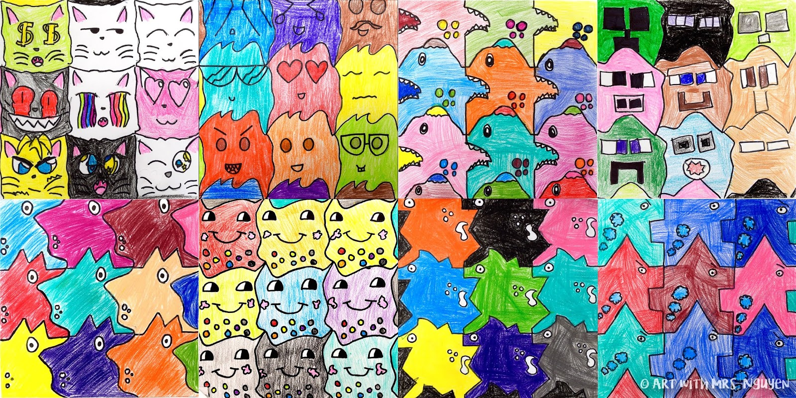 Tessellation Monsters via  www.artwithmrsnguyen.com