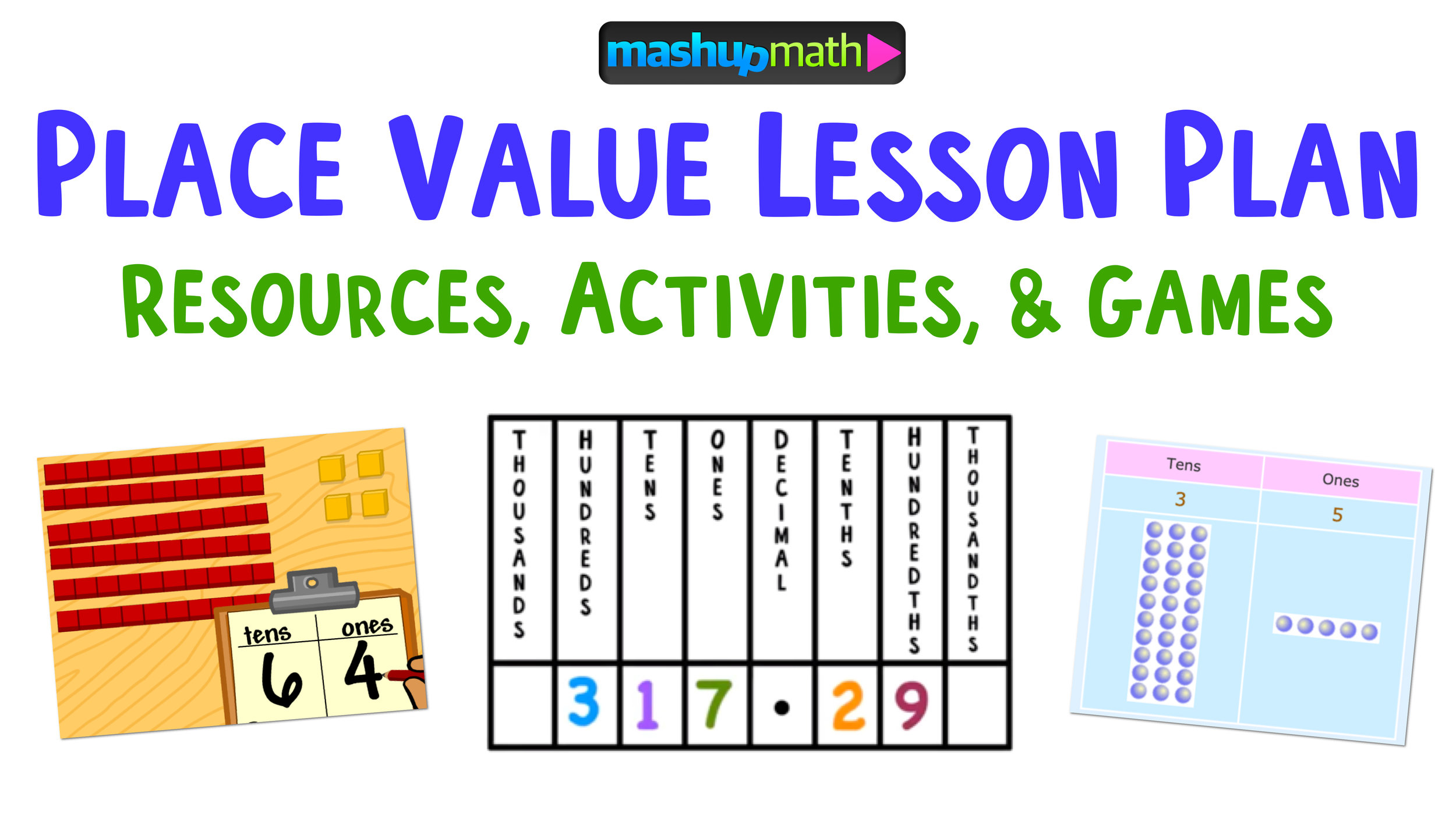 Place Value Lesson Plan Resources The Best Of The Best Mashup Math