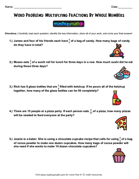 4th Grade Math Word Problems: Free Worksheets with Answers — Mashup Math