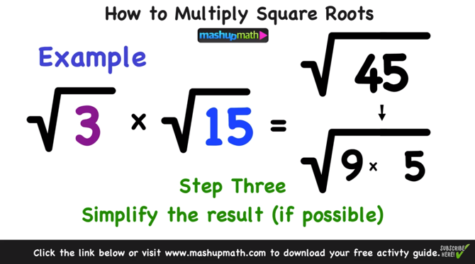 How to Multiply Radicals in 3 Easy Steps — Mashup Math