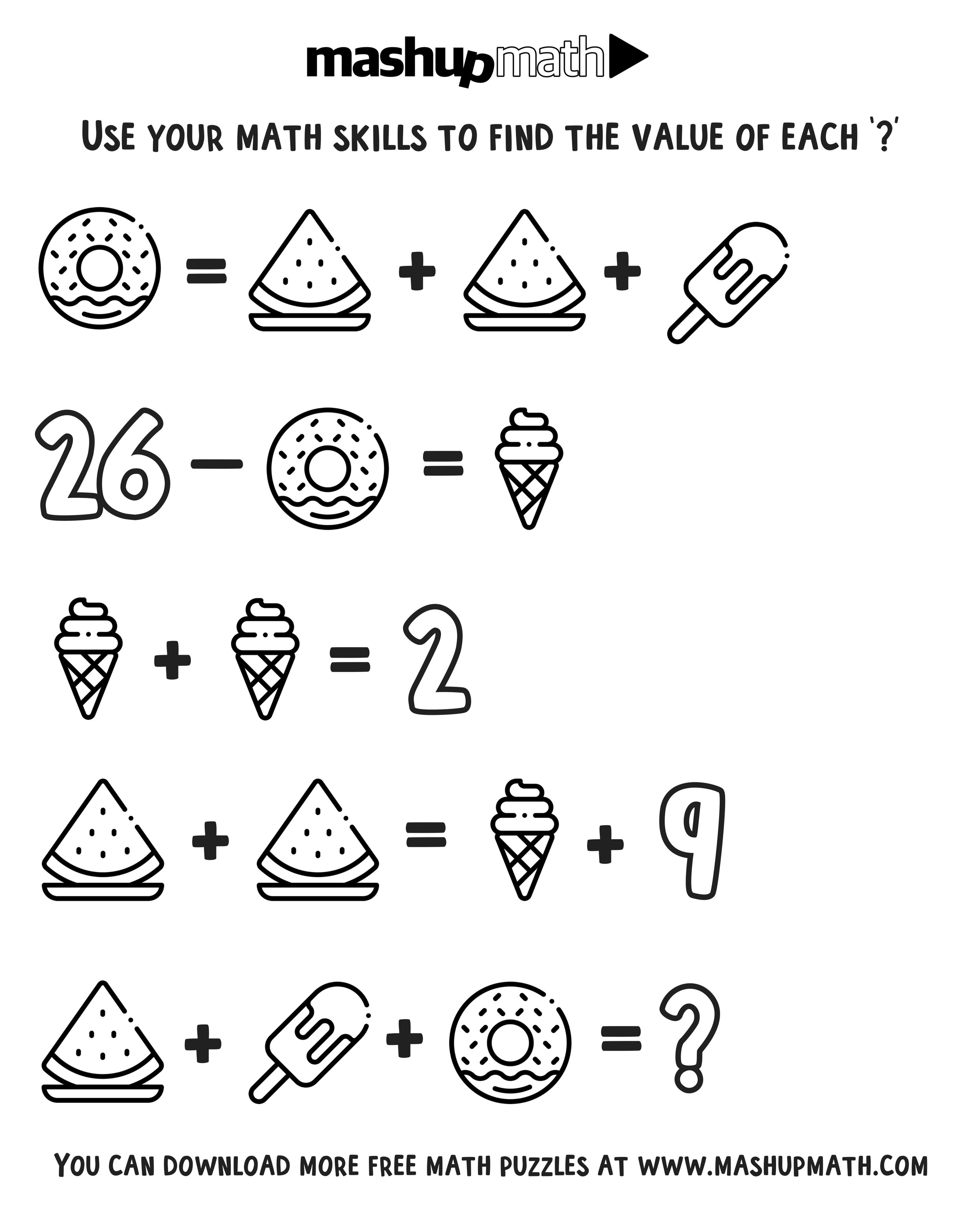 Free Math Coloring Worksheets For 3rd And 4th Grade — Mashup Math