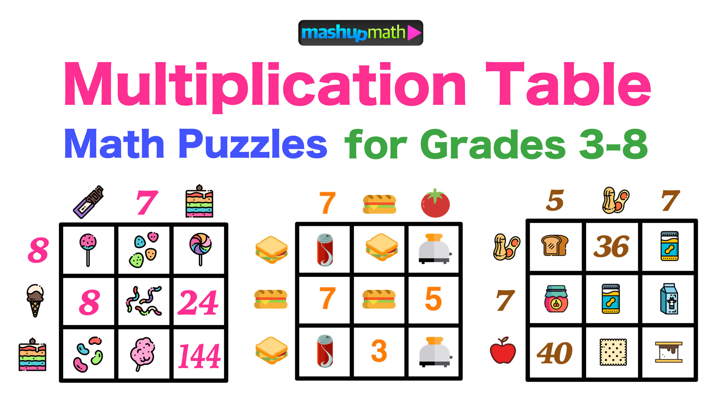 Multiplication Table Worksheets Free Printable Math Puzzles
