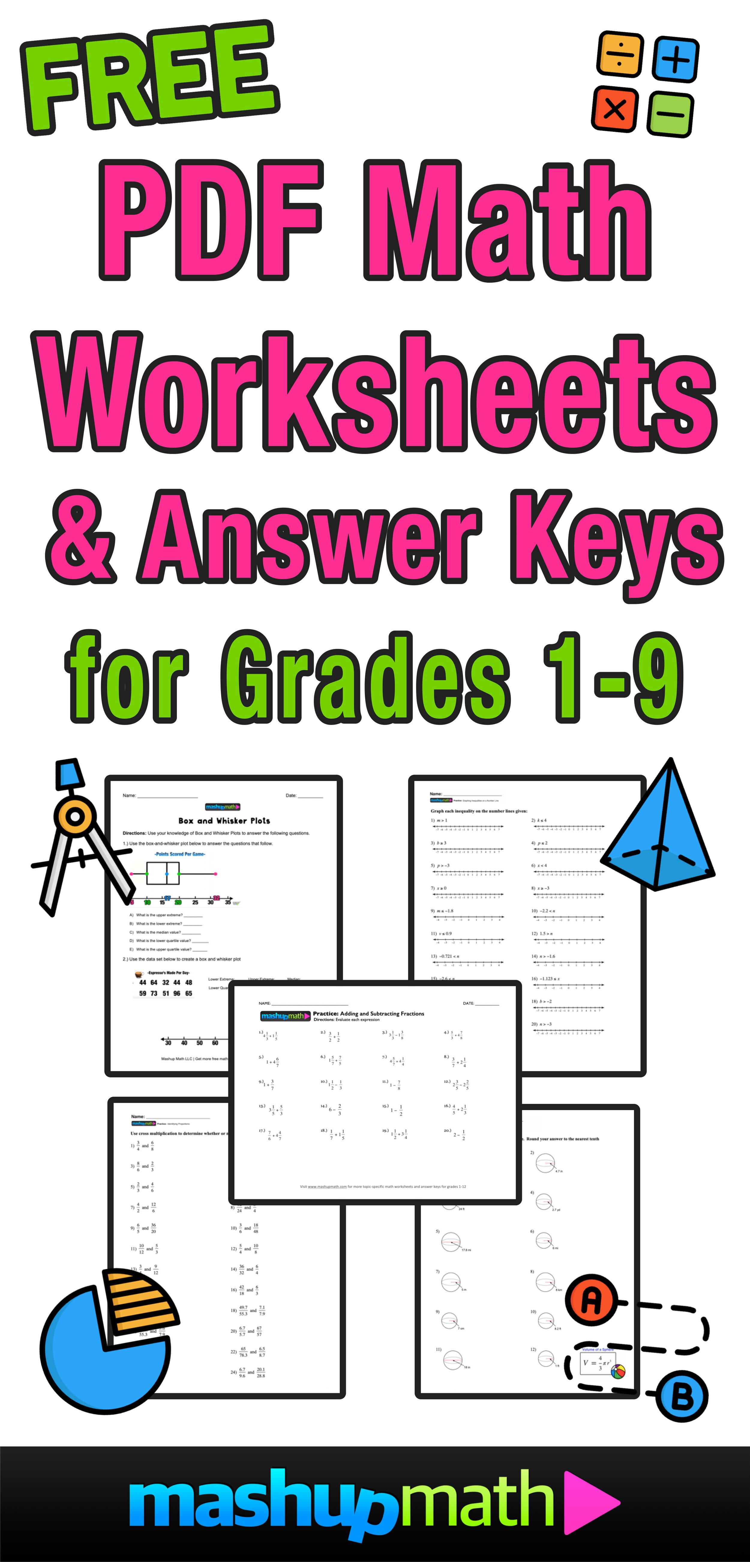 - Free Math Worksheets — Mashup Math
