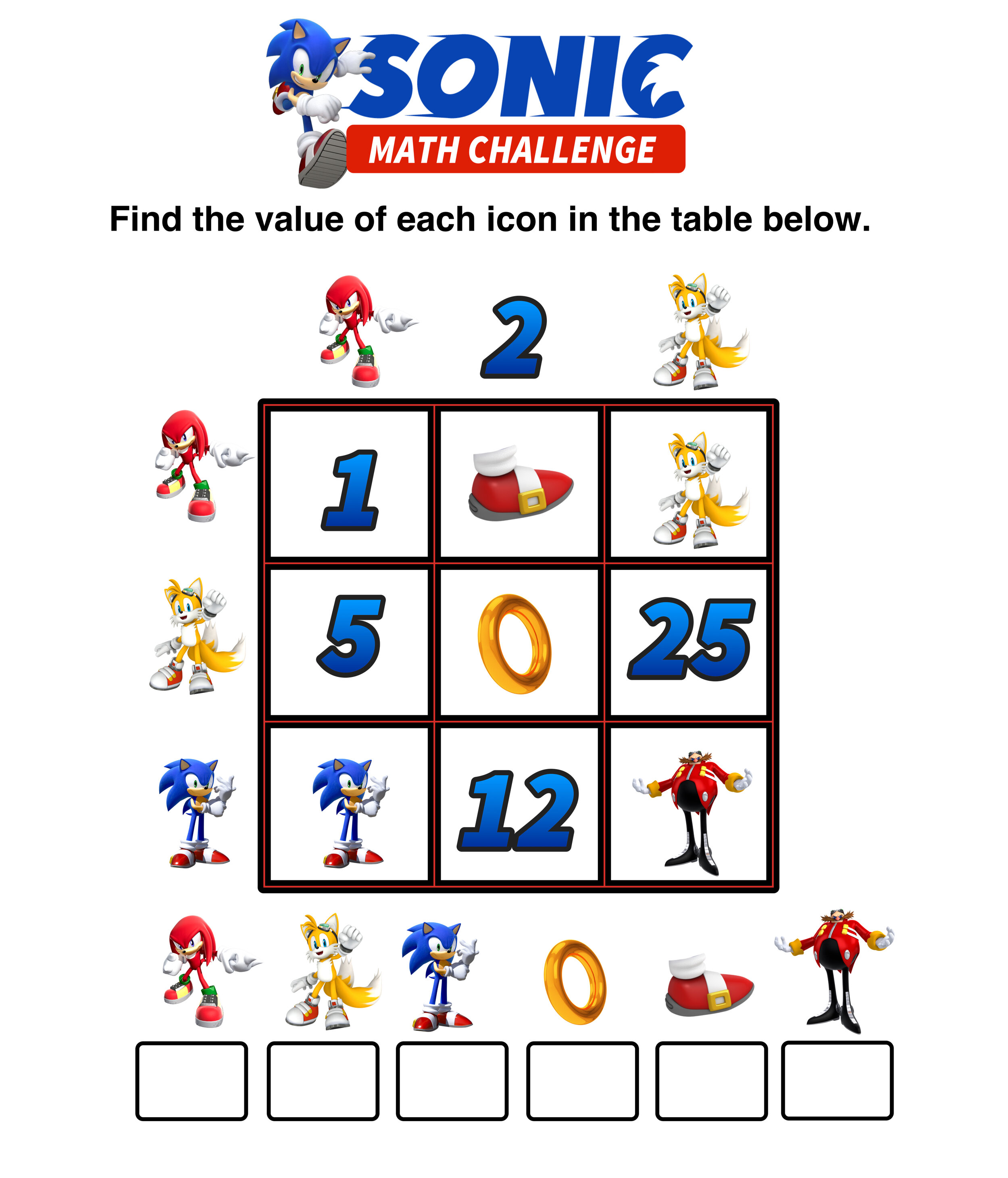 Are You Ready for These Sonic the Hedgehog Math Puzzles ...