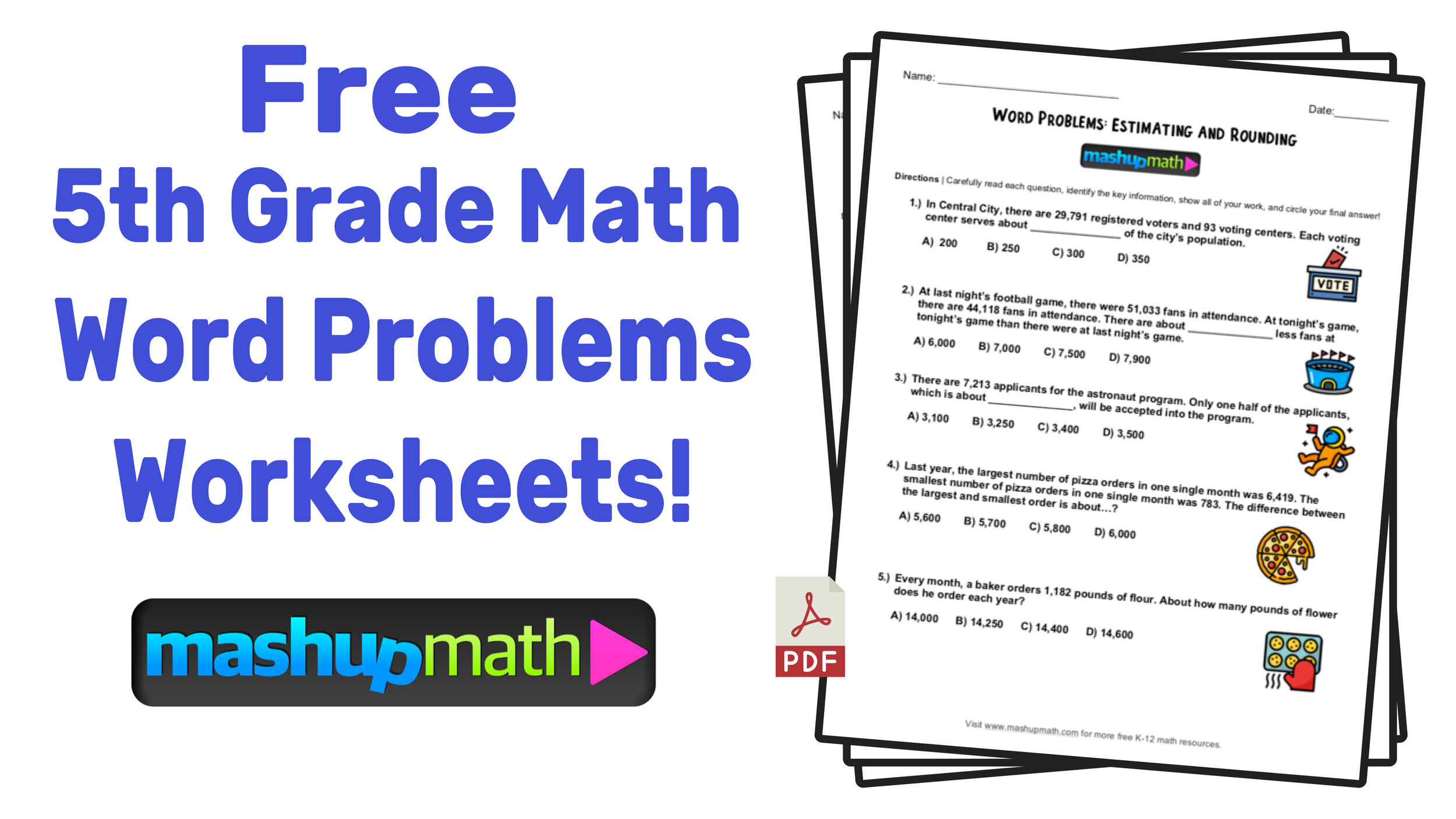 5th Grade Math Word Problems: Free Worksheets with Answers ...