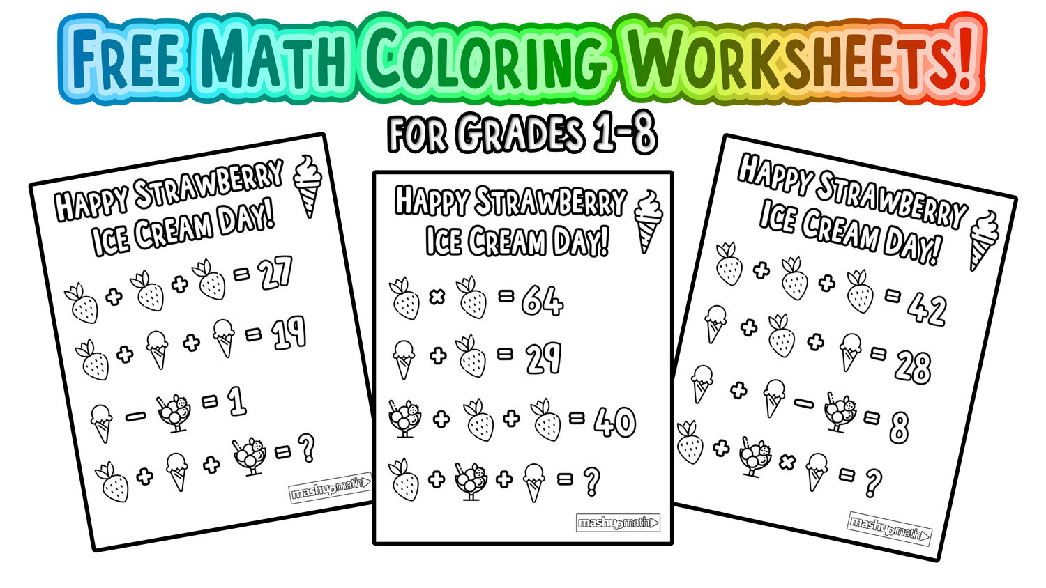 The Best Math Worksheets For 1st Grade Students — Mashup Math