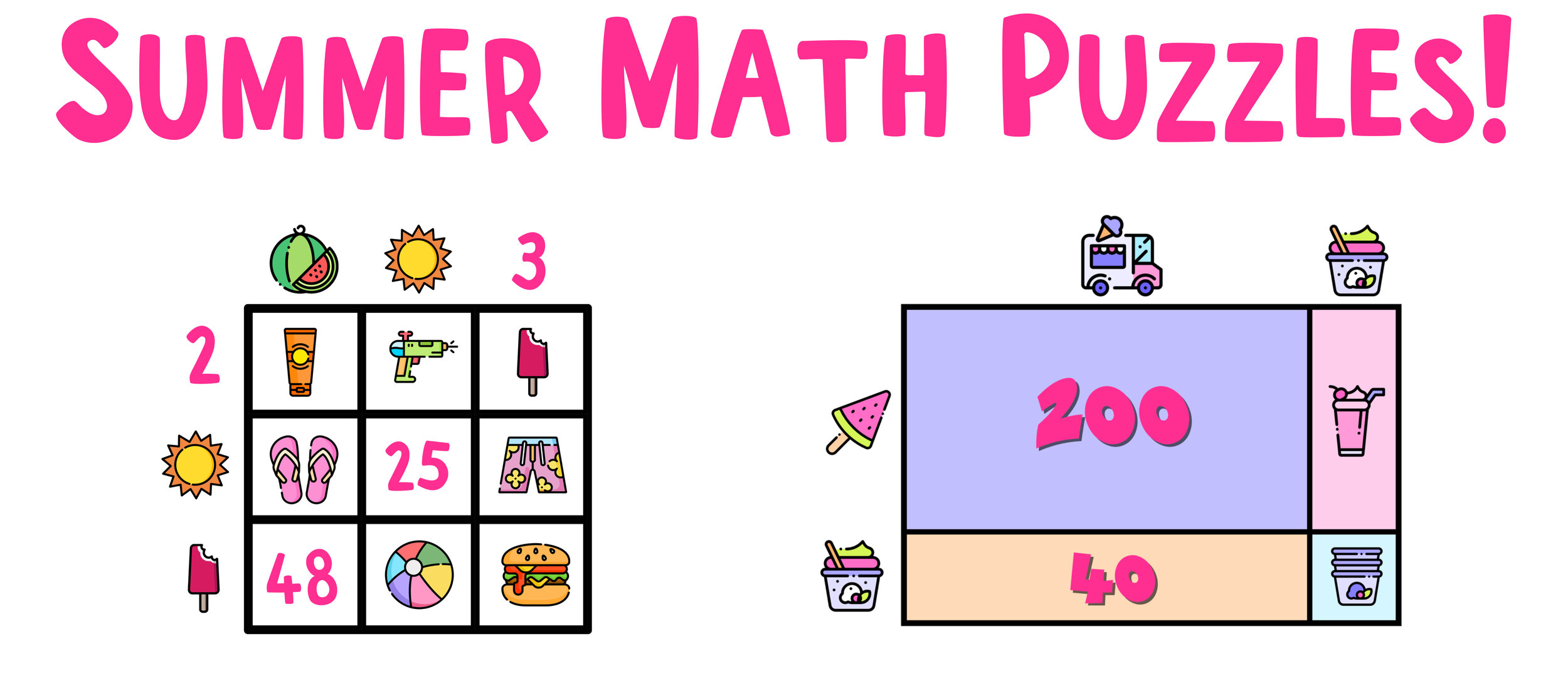 Can Your Students Solve These Summer Math Puzzles Mashup Math