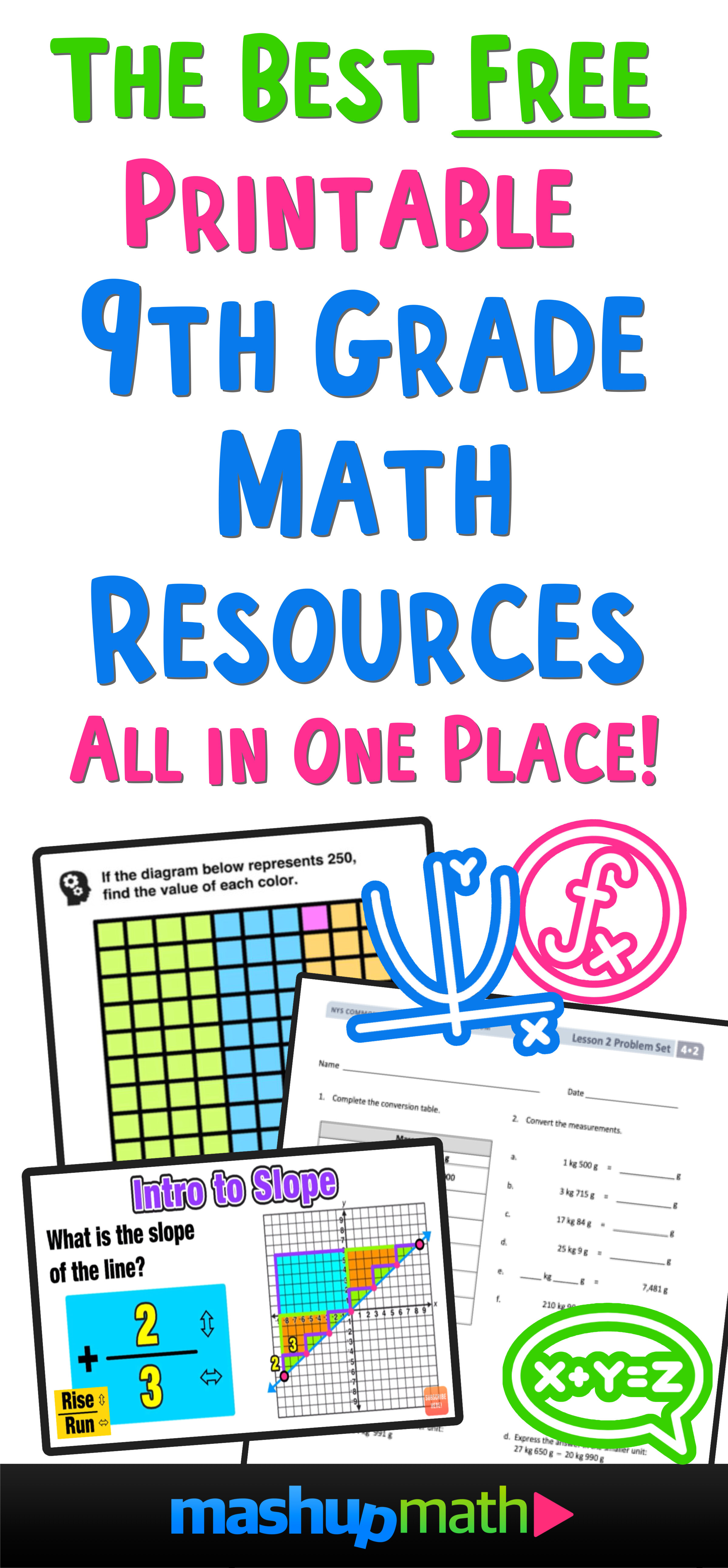 The Best Free 9th Grade Math Resources Complete List Mashup Math [ 2153 x 1000 Pixel ]