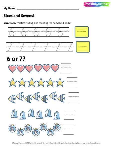 10 Free Kindergarten Math Worksheets (PDF Downloads) — Mashup Math