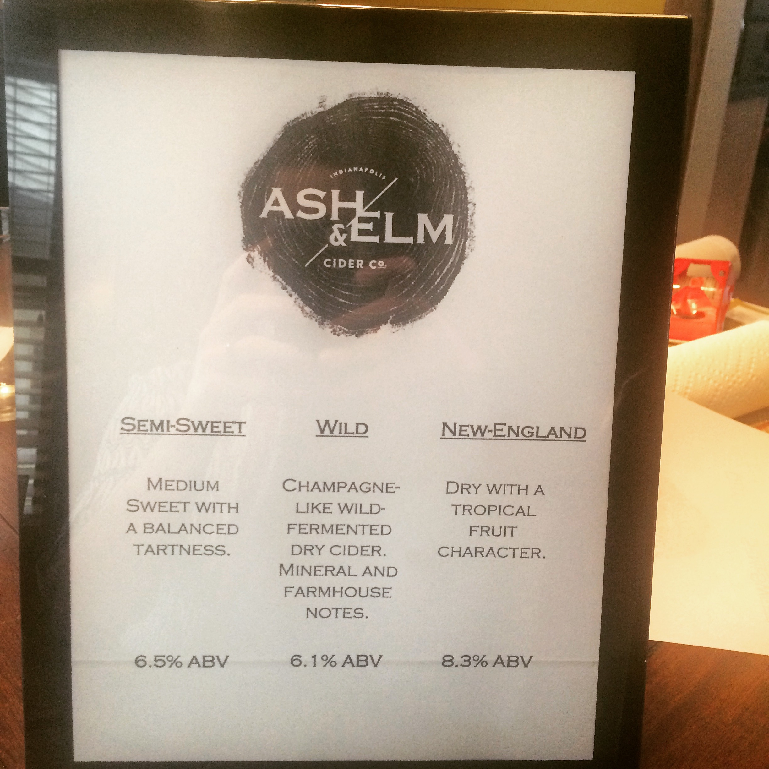 Ash & Elm cider lineup for a recent event.