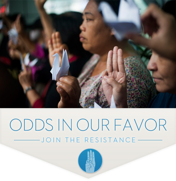 Citizens in Thailand stand up to oppression