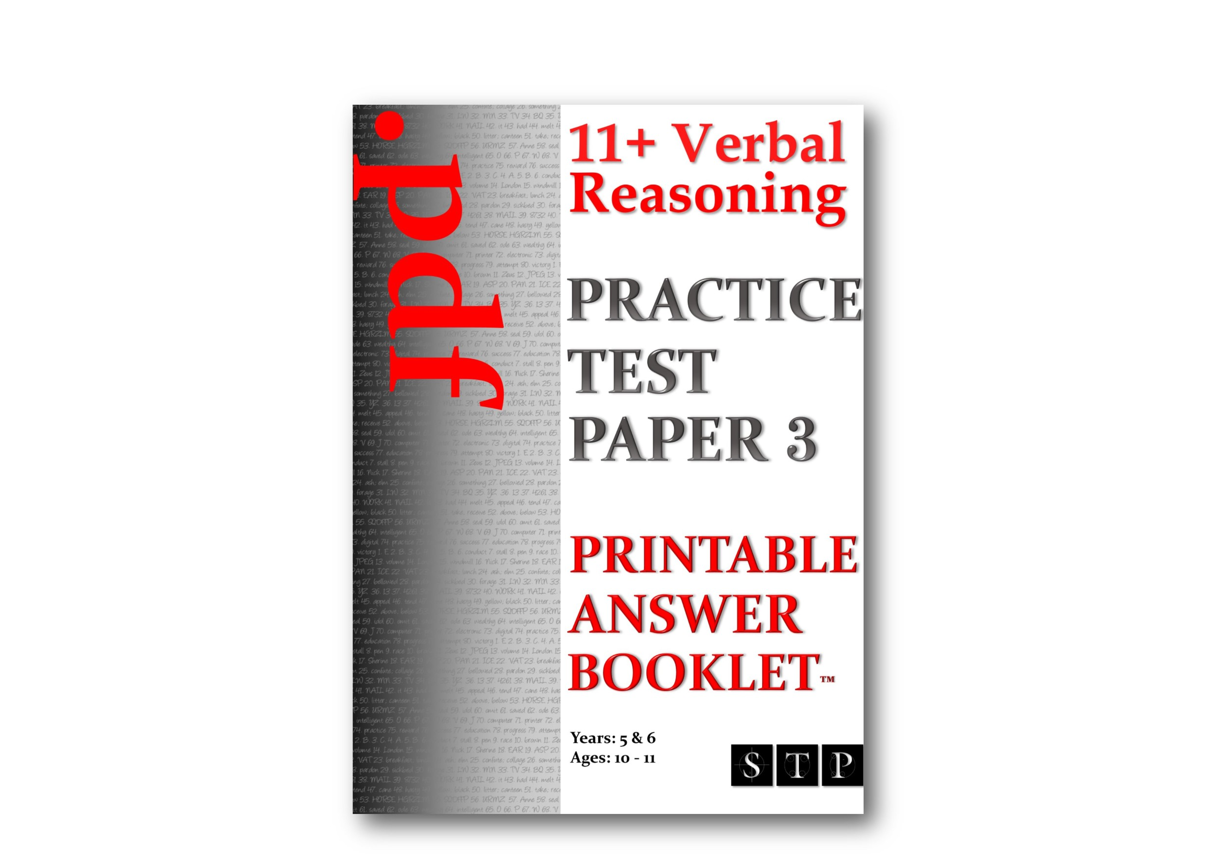 11+ Verbal Reasoning Practice Test Paper 3 (Printable Answer Booklet).jpg