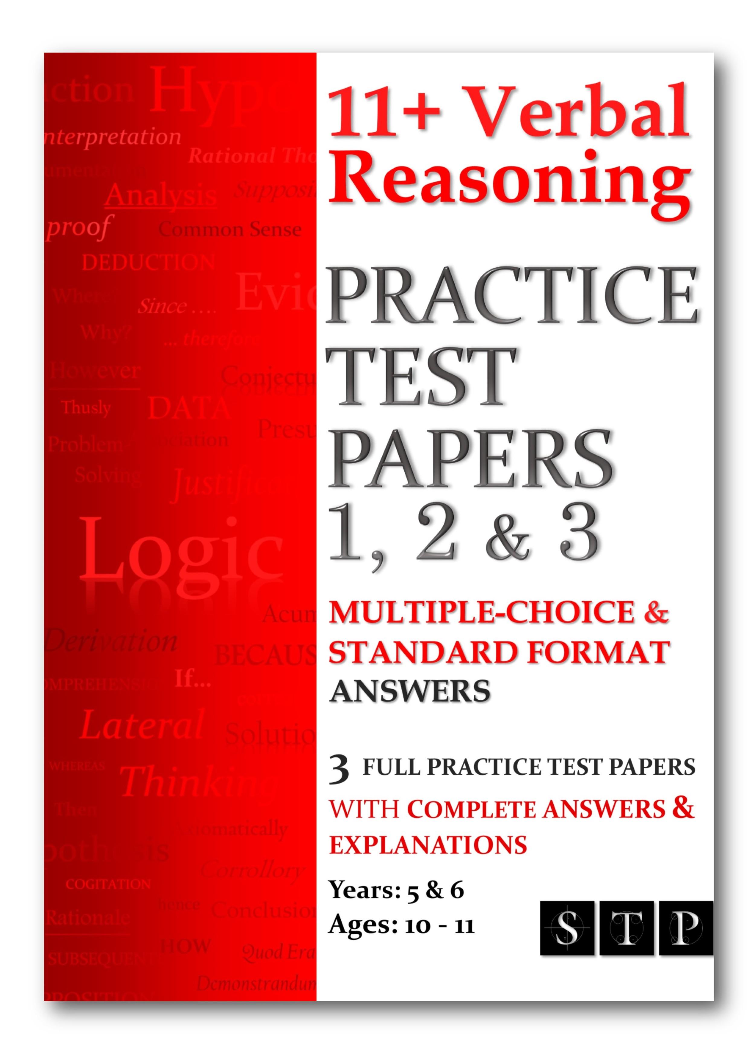 11+ Verbal Reasoning Practice Test Papers 1, 2 & 3