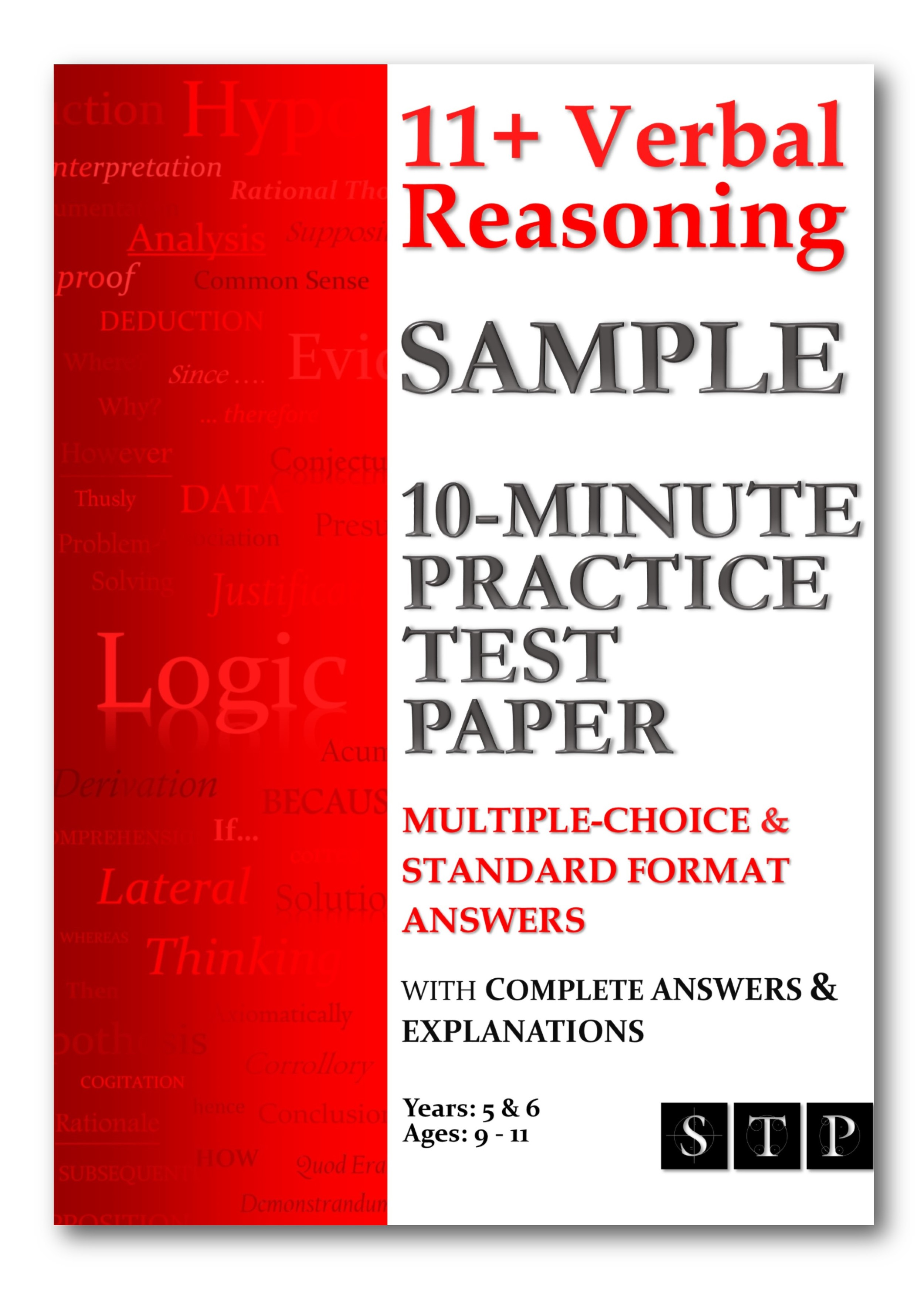 11+ Verbal Reasoning Sample 10-Minute Practice Test Paper