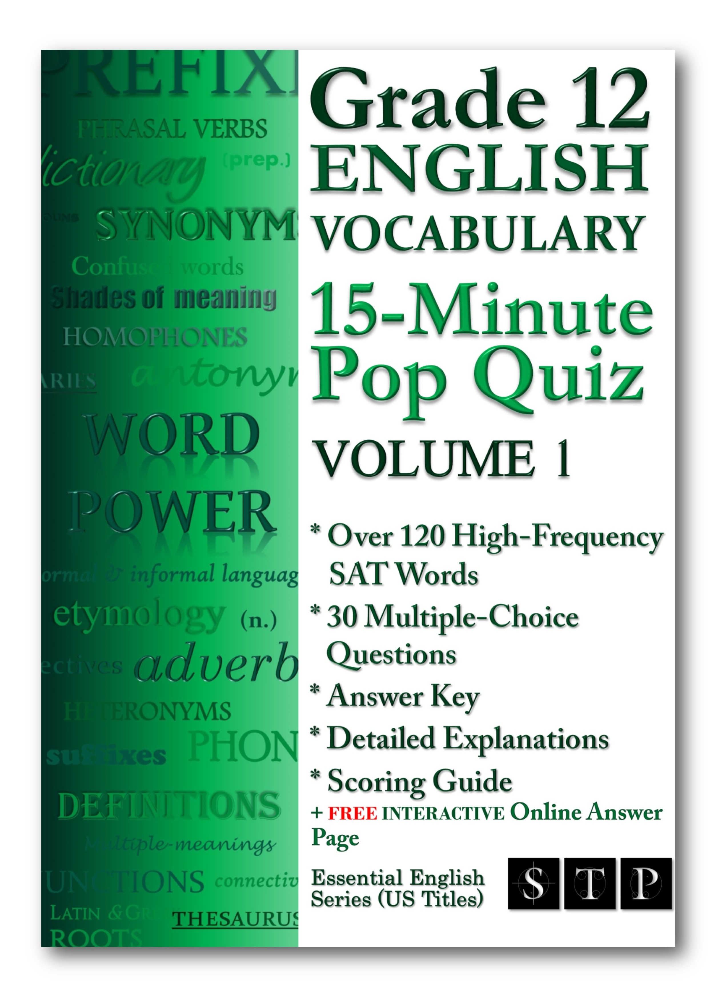 Grade 12 English Vocabulary 15-Minute Pop Quiz Volume 1