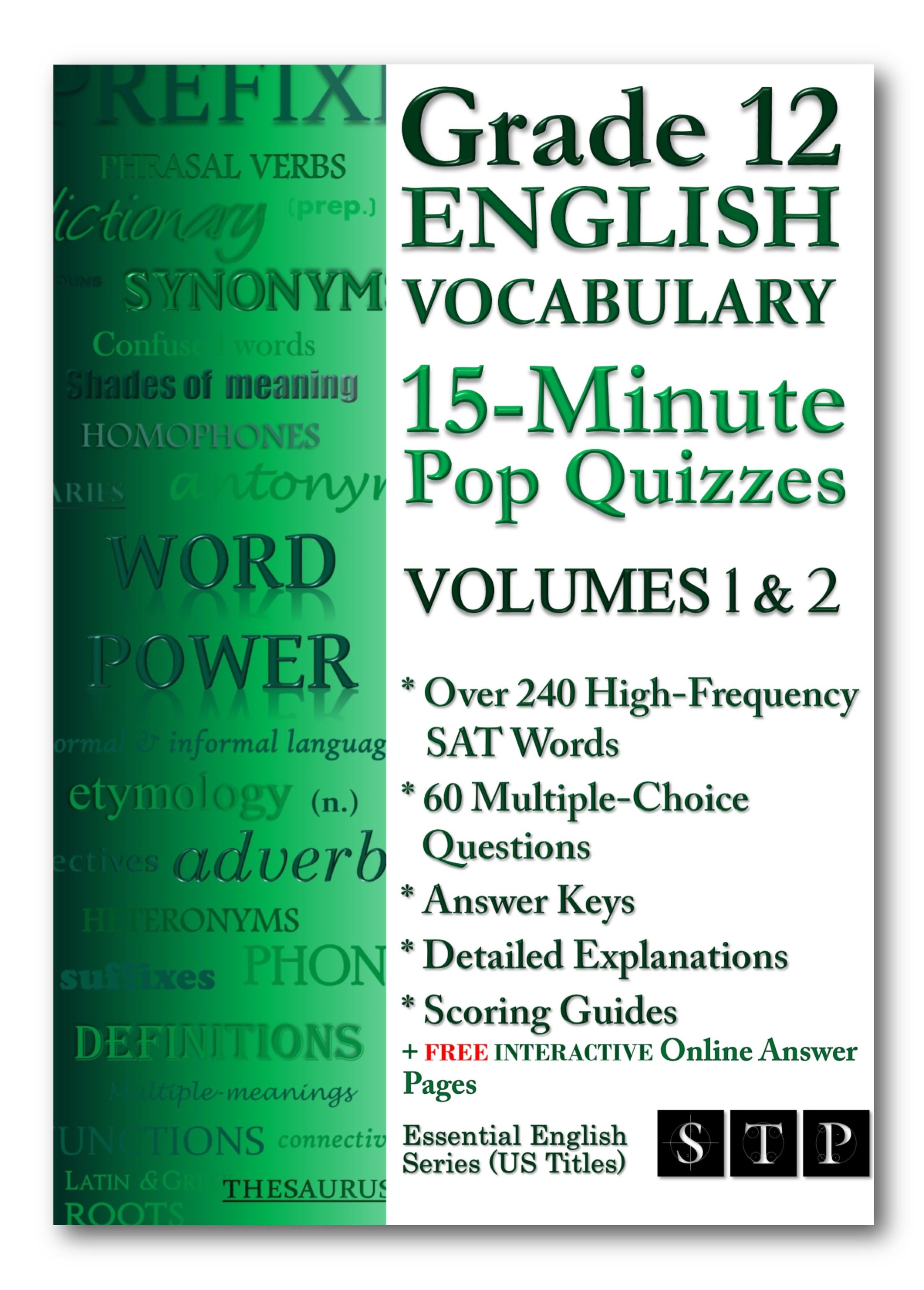 Grade 12 English Vocabulary 15-Minute Pop Quizzes Volumes 1 & 2
