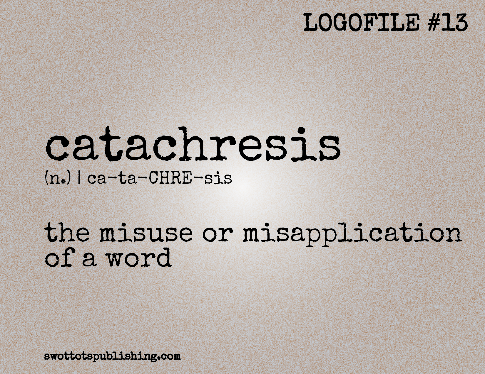 STP Logofile #13   catachresis (n.)
