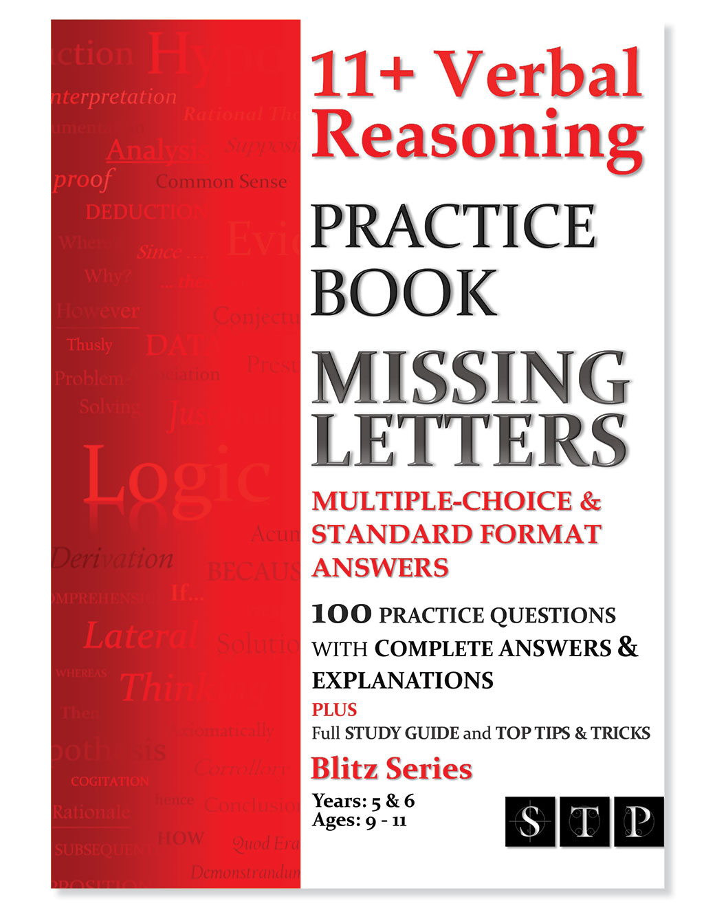 STP Books 11+ Verbal Reasoning Practice Book: Missing Letters: Multiple-Choice & Standard Format Answers (Ages 9-11: Years 5 & 6)