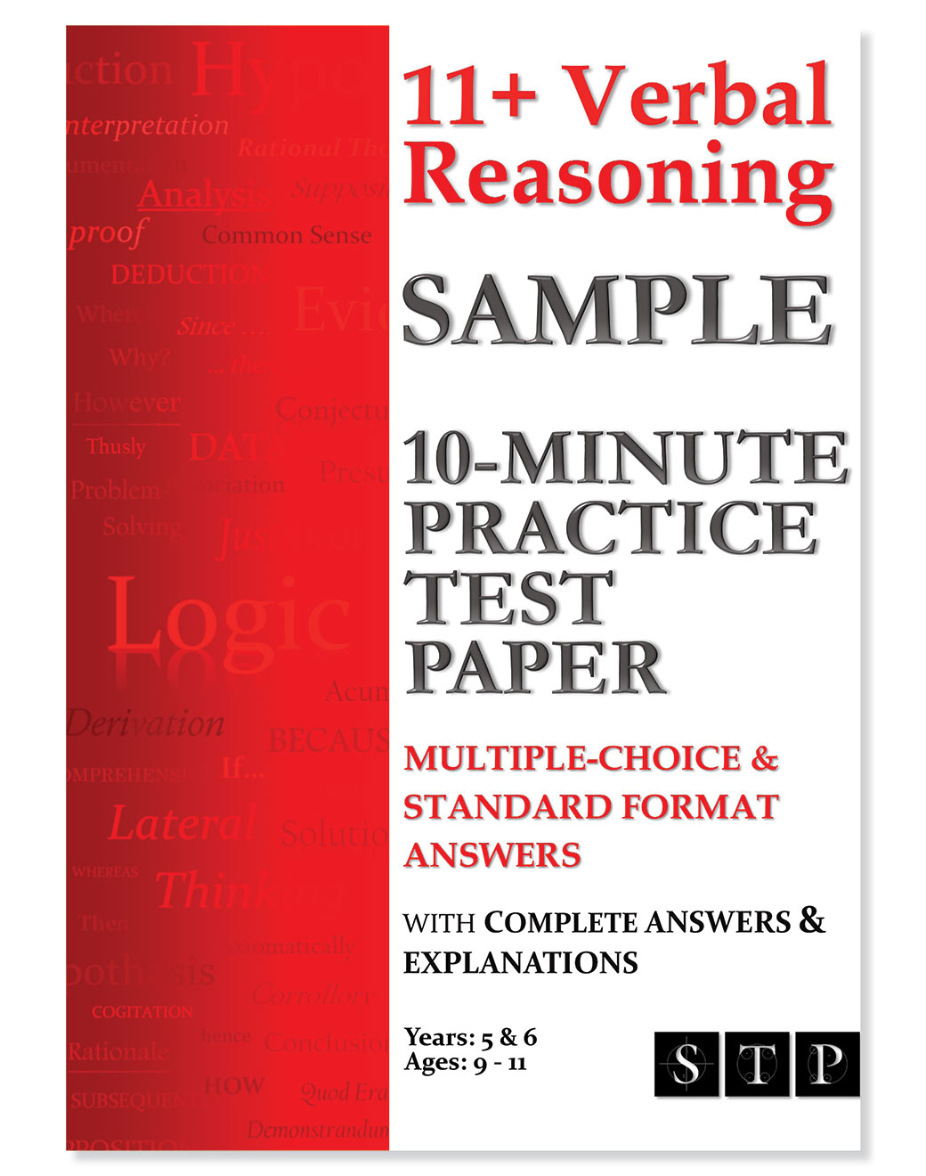 STP Books 11+ Verbal Reasoning Sample 10-Minute Practice Test Paper: Multiple-Choice & Standard Format Answers: Ages 9-11