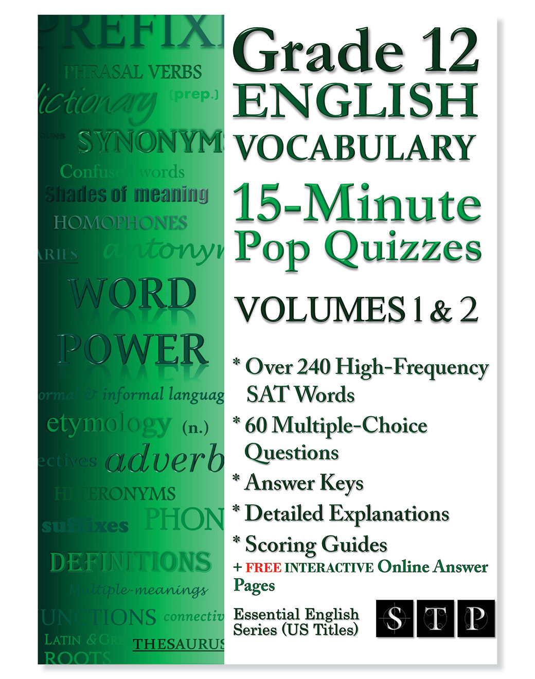STP Books Grade 12 English Vocabulary 15-Minute Pop Quizzes Volumes 1 & 2
