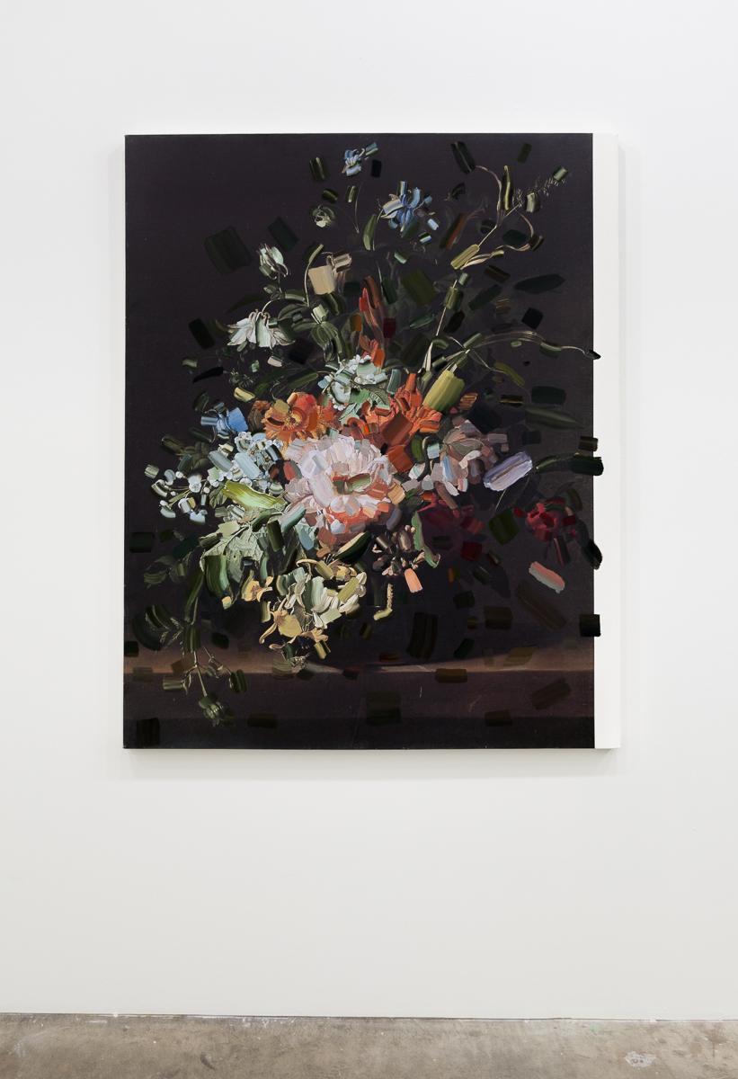 Tiffany Calvert  Untitled #268    oil on digital print 48x60 inches 2015