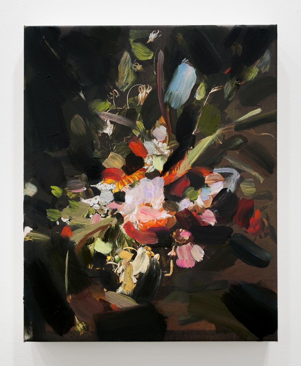 Tiffany Calvert  Untitled #262  oil on digital print 16x20 inches 2014