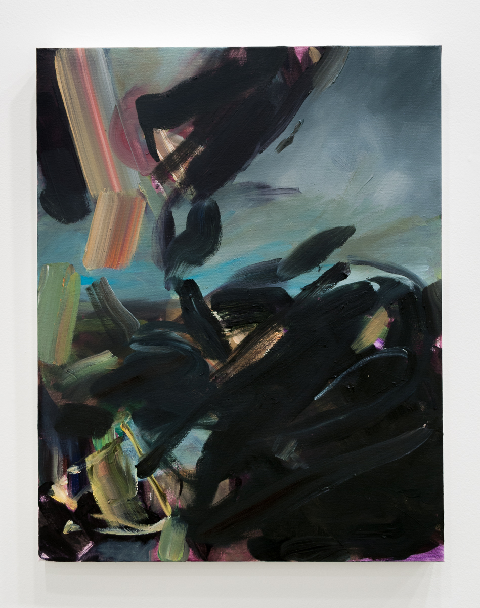 Tiffany Calvert  Untitled #264  acrylic and oil on canvas 22x28 inches 2015