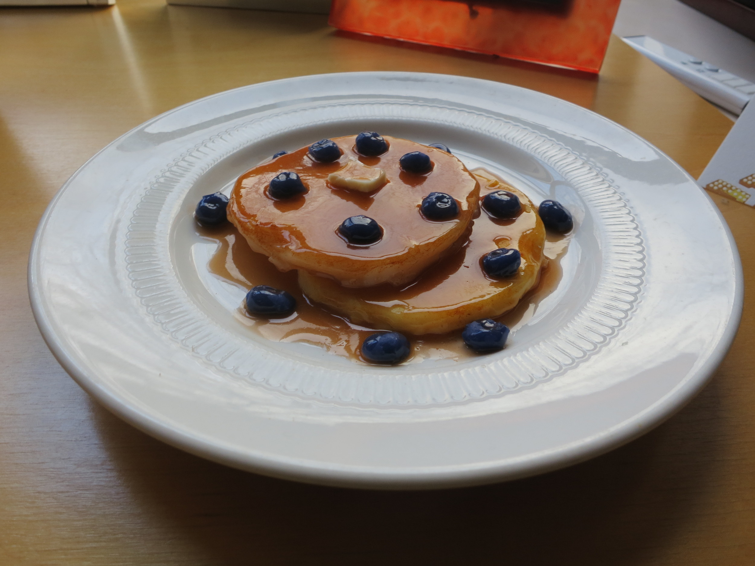 """You don't need to know about the blueberry pancakes!"" became such a familiar refrain for my students that at the end of the semester, one of them gave me this replica as a token of appreciation ."