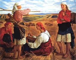 The Harvest,  1915, by   Zinaida Serebriakova .  Image via  wikipedia.org .