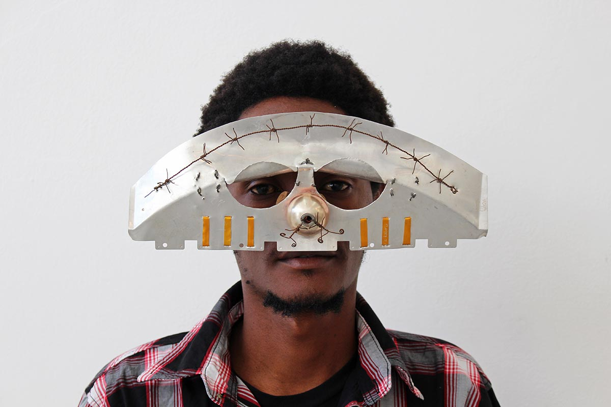 """Istanbul Mask,"" 2013  image   via   ckabiruart.daportfolio.com"